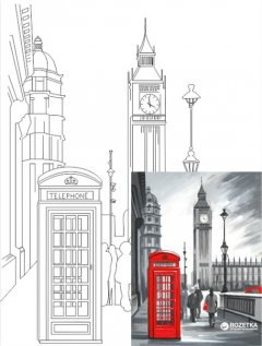 "Холст Rosa Start Город ""Лондон"" на картоне с контуром 30 х 40 см (4820149889924)"