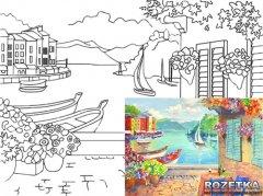 Холст Rosa Start Морской пейзаж №3 на картоне с контуром 30 х 40 см (4820149894614)