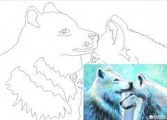 Холст Rosa Start Животные №5 на картоне с контуром 30 х 40 см (4820149894539)