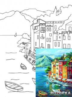 Холст Rosa Start Морской пейзаж №1 на картоне с контуром 30 х 40 см (4820149894591)