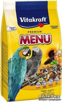 Повседневный корм для птиц Vitakraft Ара Меню 1 кг (4008239210470)
