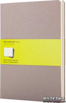 Блокнот Moleskine Cahier 19 х 25 см 120 страниц без линовки Серый 3 шт (9788866134282)