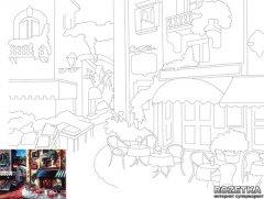 Холст Rosa Start Пейзаж №13 на картоне с контуром 30 х 40 см (4820149887623)