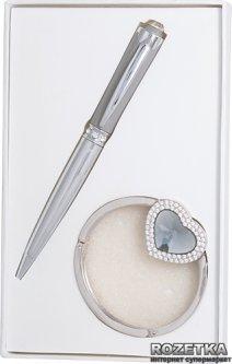 Набор подарочный (ручка шариковая + крючок для сумки) Langres Crystal Серый (LS.122028-09)