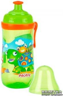 Поильник Nuby Pop up с колпачком 360 мл Зеленый (1250(turtle)) (5414959022498)