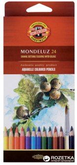 Карандаши цветные акварельные Koh-i-Noor Mondeluz 24 цвета (3718)
