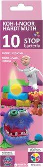 Пластилин Koh-i-Noor Stop bacteria 10 цветов 200 г (131810)