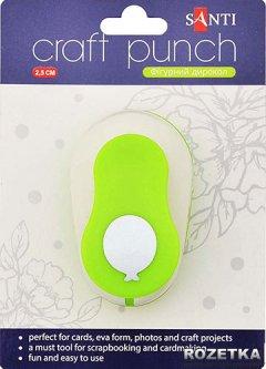 Дырокол Santi Шар фигурный 2.5 см пластик, цинк (240168) (5009072401680)