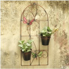 Декоративное подвесное панно с кашпо Engard Райские бабочки 24.5х10х55 см (BF-23)