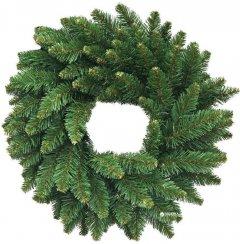 Венок Новогодько (YES! Fun) d-70 см Альпийский плетенный Зеленый ПВХ (4820179033991)