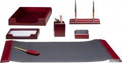 Набор настольный деревянный Bestar 7 предметов Красное дерево (7159XDU)