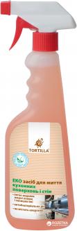 Эко средство для мытья кухонных поверхностей и стен с антибактериальным действием Tortilla 450 мл (4820178060936)