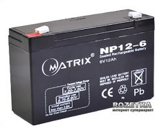 Аккумуляторная батарея Matrix 6V 12Ah (NP12-6)