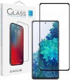 Защитное стекло ACCLAB Full Glue для Samsung S20FE Black (1283126508721)