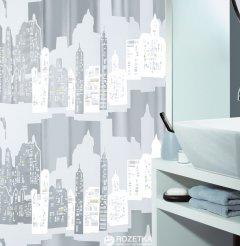 Шторка для ванной Spirella Skyline 180x200 Peva Серебристая (10.11572)