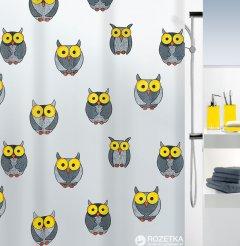 Шторка для ванной Spirella Owl 180x200 Peva Серая (10.16132)