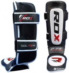 Защита голени RDX Leather M Черно-белый (155_10808)