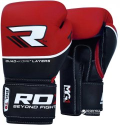 Боксерские перчатки RDX Quad Kore Red 10 Черно-красные (797_10123)