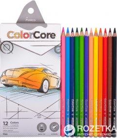 Карандаши цветные Marco ColorCore 12 цветов + 1 графитный карандаш (3100-12СВ)