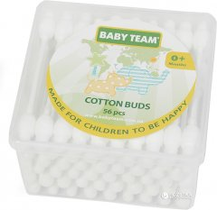 Ватные палочки Baby Team с ограничителем 56 шт (0100)