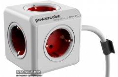 Сетевой удлинитель Allocacoc Powercube Extended с заземлением 5 розеток 1.5 м (1306RD/DEEXP)