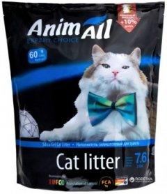 Наполнитель для кошачьего туалета AnimAll Голубой аквамарин Силикагелевый впитывающий 3.2 кг (7.6 л) (2000981045395)