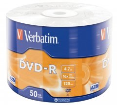 Verbatim DVD-R 4.7 GB 16x Wrap 50 шт (43788)