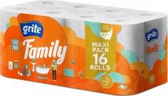 Туалетная бумага Grite Family 150 отрывов 3 слоя 16 рулонов (4770023141115)