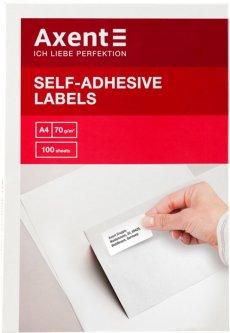 Набор этикеток самоклеящихся Axent 100 листов А4 70х37 мм Белые (2465-А)