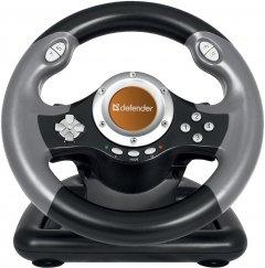 Проводной рульDefender Challenge Mini LE PC Black (64351)