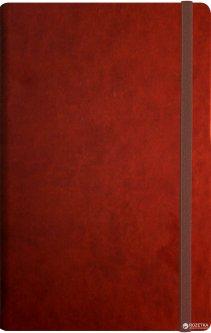 Деловая записная книга Optima Vivella A5 256 страниц на резинке нелинованная Коричневая (O20811-07)