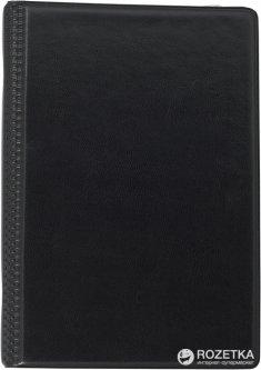 Визитница Buromax на 120 визиток 130х190 мм Черная (BM.3541-01)