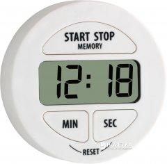 Кухонный цифровой таймер TFA с секундомером Белый (38202202)