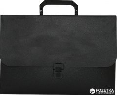 Портфель пластиковый Buromax на 1 отделение Черный (BM.3735-01)