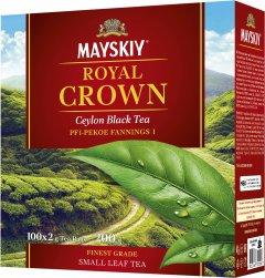 Чай Майский черный байховый Царская корона 100 пакетиков 200 г (4823063702096)