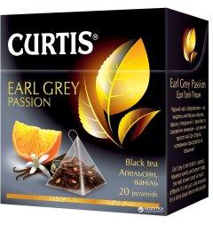 Чай Curtis черный Earl Grey Passion фруктовый 20 пакетиков (4823063703079)