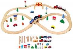 Деревянная железная дорога Viga Toys 49 элементов (56304)