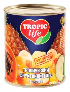 Тропический фруктовый коктейль в сиропе Tropic Life 850 мл (4820086920025 / 5060162901220)