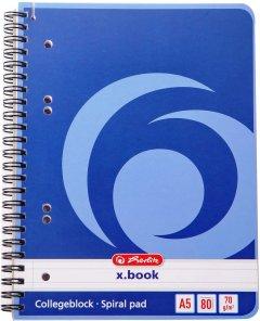 Блокнот Herlitz X Book A5 в линейку 80 листов Синий (297515)