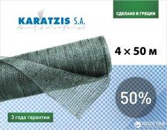 Cетка полимерная Karatzis для затенения 50% 4 х 50 м Зеленая (5203458762468)