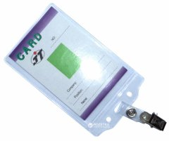 Набор бейджей Agent CD-108 С вертикальные + клип-подвес 100 шт 70х100 мм Прозрачные (6917201118035)