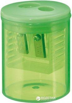 Точилка Herlitz Round с контейнером 2 отверстия Зеленая (8680100G)