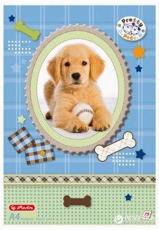 Альбом для рисования Herlitz Pretty Pets Dog A4 75 листов (10089019D)