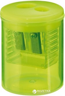 Точилка Herlitz Round с контейнером 2 отверстия Желтая (8680100Y)