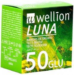 Тестовые полоски для глюкометра WELLION LUNA 25x2 (WELL615)