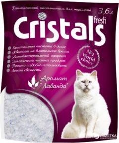 Наполнитель для кошачьего туалета Cristals Fresh с лавандой Силикагелевый впитывающий 1.7 кг (3.6 л) (6930009507016)