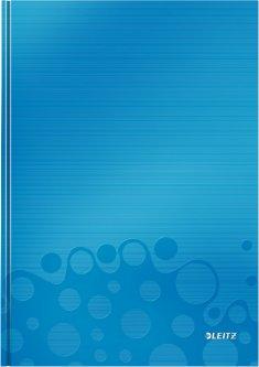 Тетрадь в твердой обложке Leitz WOW А4 в клетку на 80 листов Голубая (4626-10-36)