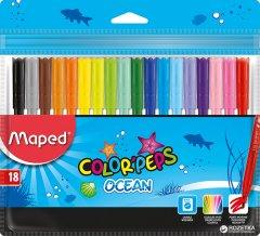 Фломастеры Maped Color Peps Ocean 18 цветов 18 шт (MP.845721)