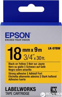 Картридж с лентой Epson LabelWorks LK-5YBW 18мм / 9 м Black/Yellow (C53S655010)