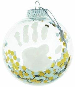 Набор для создания отпечатка ручки и ножки малыша Baby Art Рождественский шарик Прозрачный (3601099600)